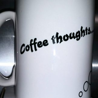 Mug Ceramic Coffee Thoughts